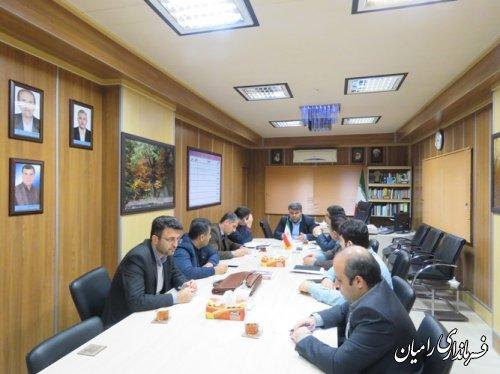 جلسه ستاد انتخابات شهرستان رامیان باحضور کارشناسان ستاد انتخابات استان