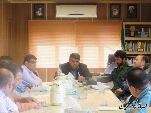 تشکیل جلسه برنامه ریزی مراسم روز معلم در شهرستان رامیان