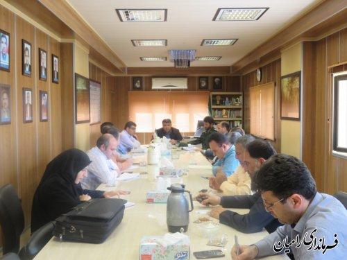جلسه برنامه ریزی کمیته پشتیبانی ستاد انتخابات شهرستان رامیان برگزار شد