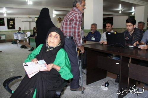 حضور پرشور مردم شهرستان رامیان در روز 29 اردیبهشت ماه به روایت تصویر