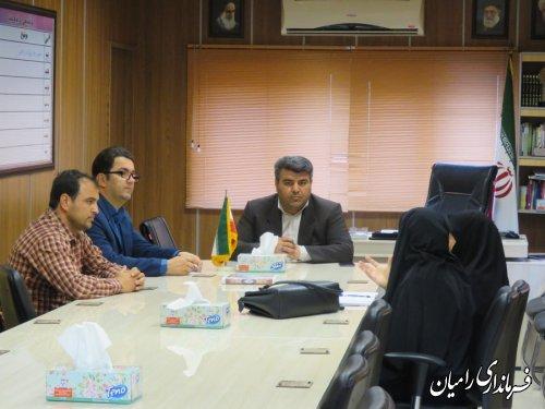 دیدار متخبین شورای اسلامی شهر رامیان با فرماندار شهرستان