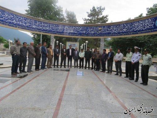 غبار روبی گلزار شهداء به مناسبت هفته مبارزه با مواد مخدر/تصاویر