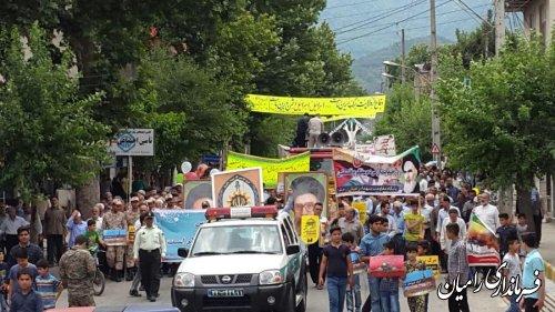 مراسم راهپیمایی روز جهانی قدس در شهرستان رامیان/ تصاویر