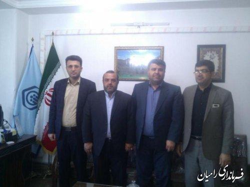 بازدید فرماندار رامیان  از اداره تامین اجتماعی و بهزیستی