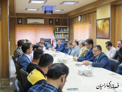 تودیع ومعارفه رئیس اداره ورزش و جوانان شهرستان رامیان برگزار شد