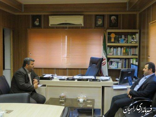 دیدار مدیرکل ثبت اسناد و املاک استان گلستان با فرماندار رامیان