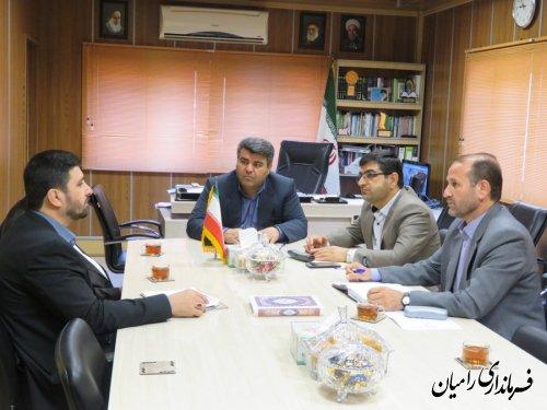 دیدار مدیرکل آموزش و پرورش استان با فرماندار رامیان