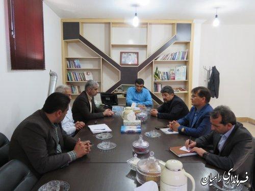 جلسه هماهنگی در خصوص سفر تیم دندانپزشکی یه شهرستان رامیان برگزارشد