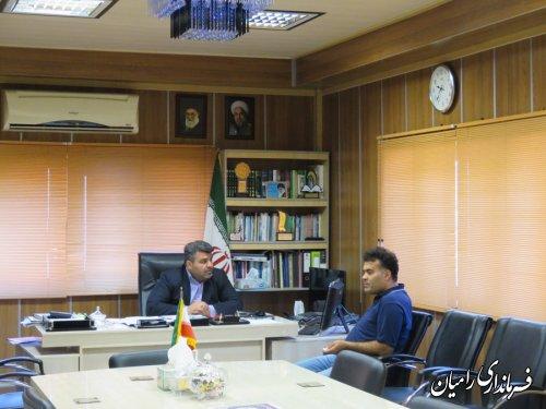 ملاقات عمومی فرماندار شهرستان رامیان با مردم برگزار شد
