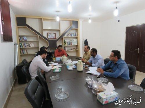 جلسه هماهنگی آزمون دوره ای وسایل توزین و سنجش سبک شهرستان رامیان