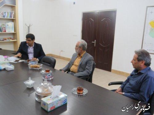 دیدار مدیرکل کانون پرورش فکری کودکان و نوجوانان استان گلستان با معاون فرماندار رامیان