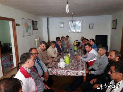 جلسه هماهنگی جستجوی خانواده مفقودین سیلاب 19 مردادماه سالجاری دردهنه زرین گل