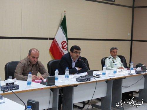 جلسه ستاد گرامیداشت هفته دولت در شهرستان رامیان برگزار شد