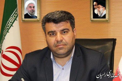 پیام تبریک فرماندار شهرستان رامیان به مناسبت هفته دولت