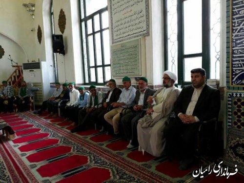 دیدار فرماندارشهرستان رامیان با سادات شهردلند