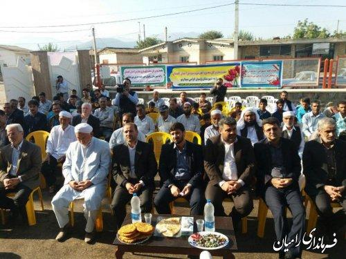 مراسم افتتاح مدرسه مختومقلی فراغی روستای کلو
