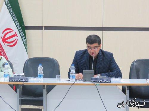 جلسه کمیسیون ارتقاء امنیت اجتماعی شهرستان رامیان برگزار شد