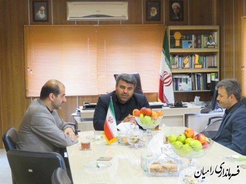 دیدار مدیرکل آموزش فنی و حرفه ای استان گلستان با فرماندار شهرستان رامیان