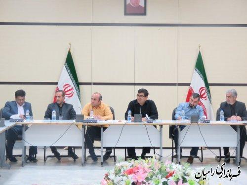 جلسه کمیسیون برنامه ریزی، هماهنگی و نظارت بر مبارزه قاچاق کالا و ارز شهرستان رامیان برگزار شد