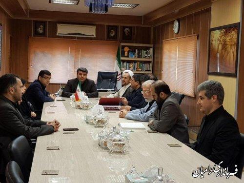 آیین تکریم ومعارفه رئیس اداره فرهنگ و ارشاد اسلامی شهرستان رامیان