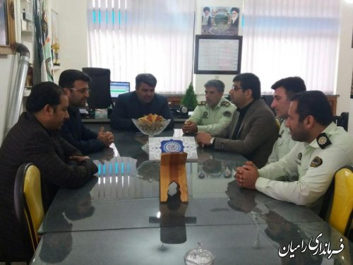 دیدار فرماندار رامیان با پرسنل انتظامی شهرستان به مناسبت هفته نیروی انتظامی