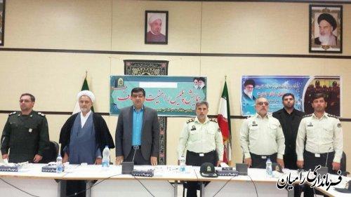 همایش پلیس، امنیت و اصناف شهرستان رامیان به مناسبت هفته نیروی انتظامی