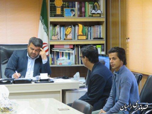 ملاقات عمومی فرماندار شهرستان رامیان به صورت چهره به چهره با مردم شریف شهرستان انجام شد