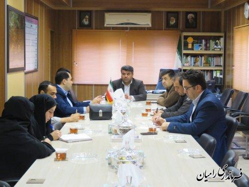 جلسه هماهنگی صدور سند املاک شهروندان شهر رامیان