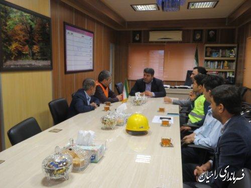برگزاری جلسه هماهنگی اجرای رزمایش ملی کنترل آماده بکاری مولدهای اضطراری در شهرستان رامیان