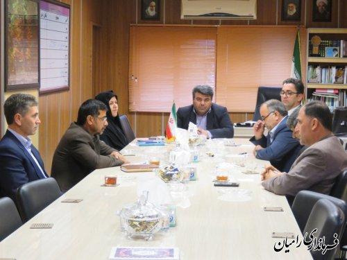 اولین جلسه شورای اسلامی شهرستان رامیان برگزار شد