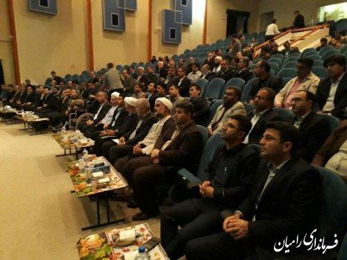 آیین  تکریم ومعارفه رئیس جدید دادگستری شهرستان رامیان برگزار شد