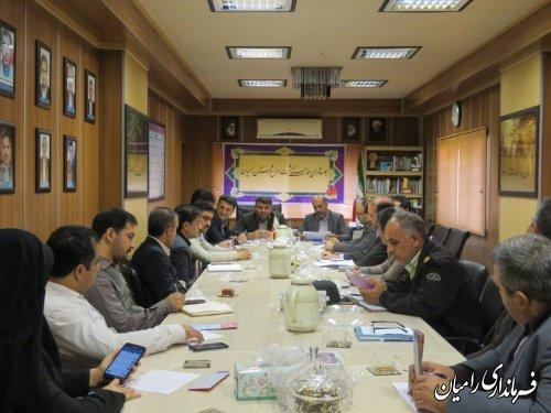 جلسه شورای هماهنگی ثبت احوال شهرستان رامیان برگزارشد