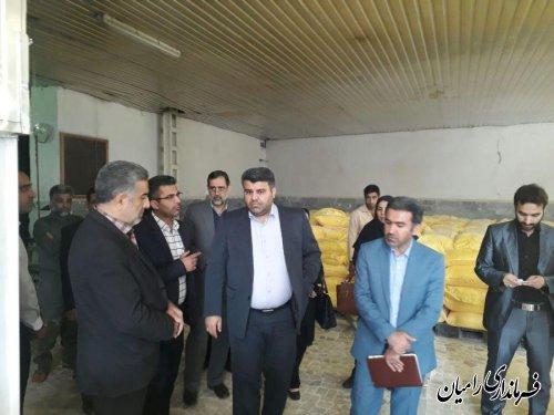 بازدید کمیته چالشها و فرصتهای کارگروه اشتغال شهرستان از واحد تولیدی کارخانه آرد الماس رامیان
