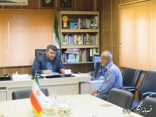 نشست صمیمی فرماندار رامیان با عضو شورای اسلامی روستای ویرو