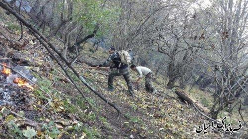 آتش در جنگل های رامیان گلستان مهار شد؛ 12 هکتار خسارت دید