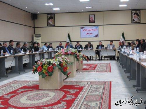 جلسه کارگروه فرهنگی و اجتماعی شهرستان رامیان برگزارشد