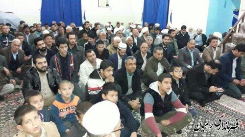 مراسم هفته وحدت در مسجد جامع شهر تاتارعلیا با حضور مسئولین شهرستان رامیان برگزار شد