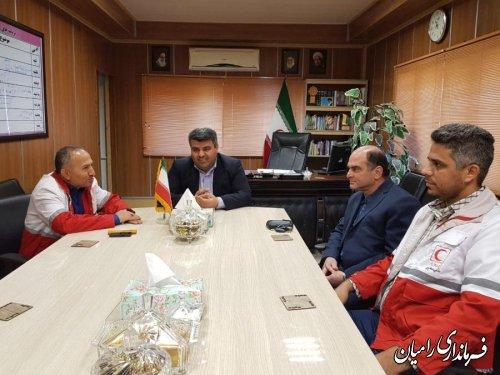 نشست صمیمی فرماندار با رئیس جدید هلال احمر شهرستانهای رامیان و آزادشهر
