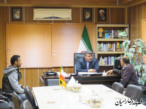 ملاقات عمومی فرماندار رامیان به صورت چهره به چهره با مردم شهرستان برگزار شد