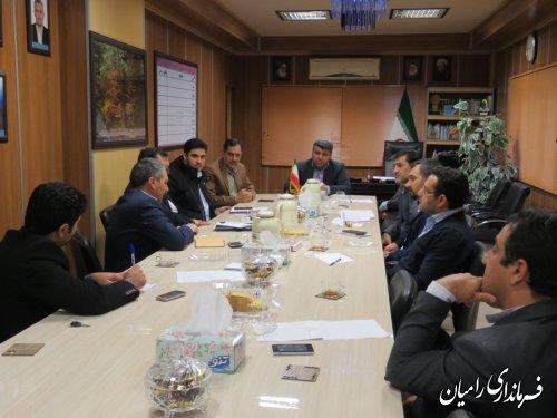 جلسه کارگروه تسهیل ورفع موانع تولید در شهرستان رامیان برگزار شد