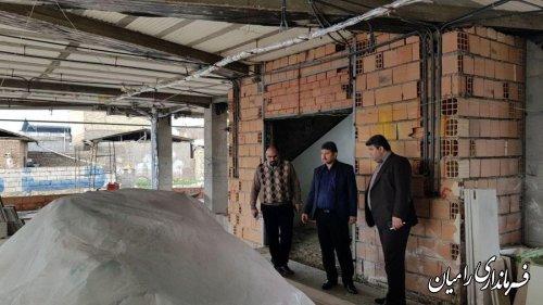 بازدید مهندس صادقلو فرماندار شهرستان رامیان از مرکز جامع سلامت شهر دلند