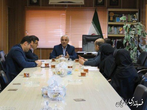 دیدار شهردار و اعضای شورای اسلامی شهر رامیان با فرماندار جدید شهرستان