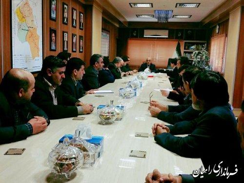 دیدار روسای ادارات شهرستان رامیان با مهندس سالاری فرماندار شهرستان رامیان