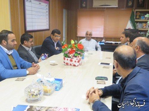 دیدار شهردار و اعضای شورای اسلامی شهر خان ببین با فرماندار شهرستان رامیان