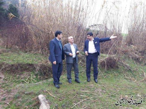 بازدید فرماندار رامیان از جاده بین مزارع نارکلاته به رامیان