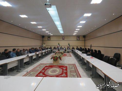 اولین نشست صمیمی فرمانداررامیان با پرسنل وکارکنان فرمانداری و بخشداریهای تابعه