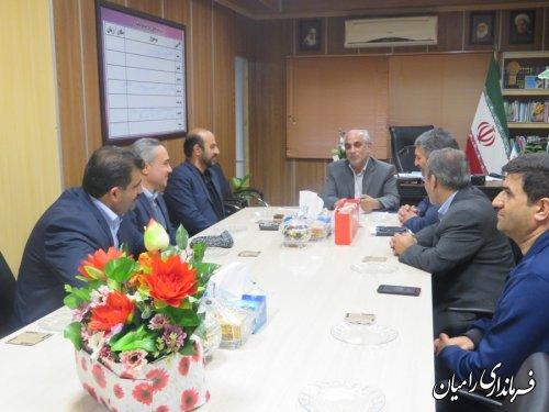 دیدار تعدادی دیگر از مدیران دستگاه های اجرایی با فرماندار جدید شهرستان رامیان