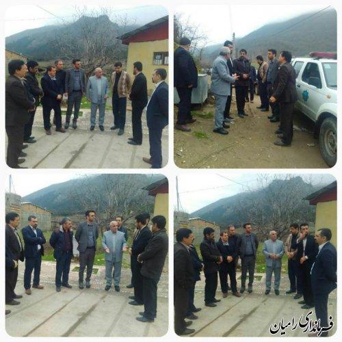 بازدید فرماندار شهرستان رامیان از روستاهای باقرآباد و سیدکلاته رامیان