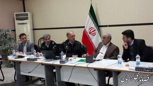 جلسه شورای ترافیک شهرستان رامیان برگزار شد