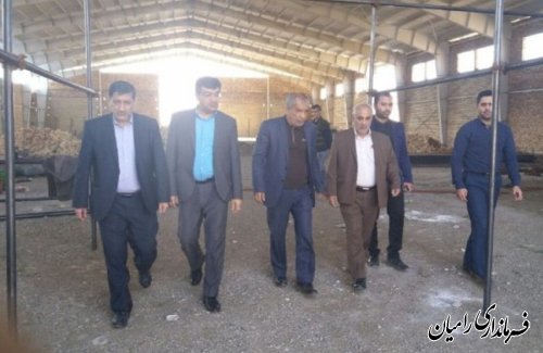 بازدید فرماندار شهرستان رامیان از شرکت هما سبز شهرک صنعتی رامیان